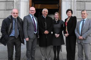 Mr Mohammed Amara with members of the Oireachtas Friends of Palestine and Sadaka